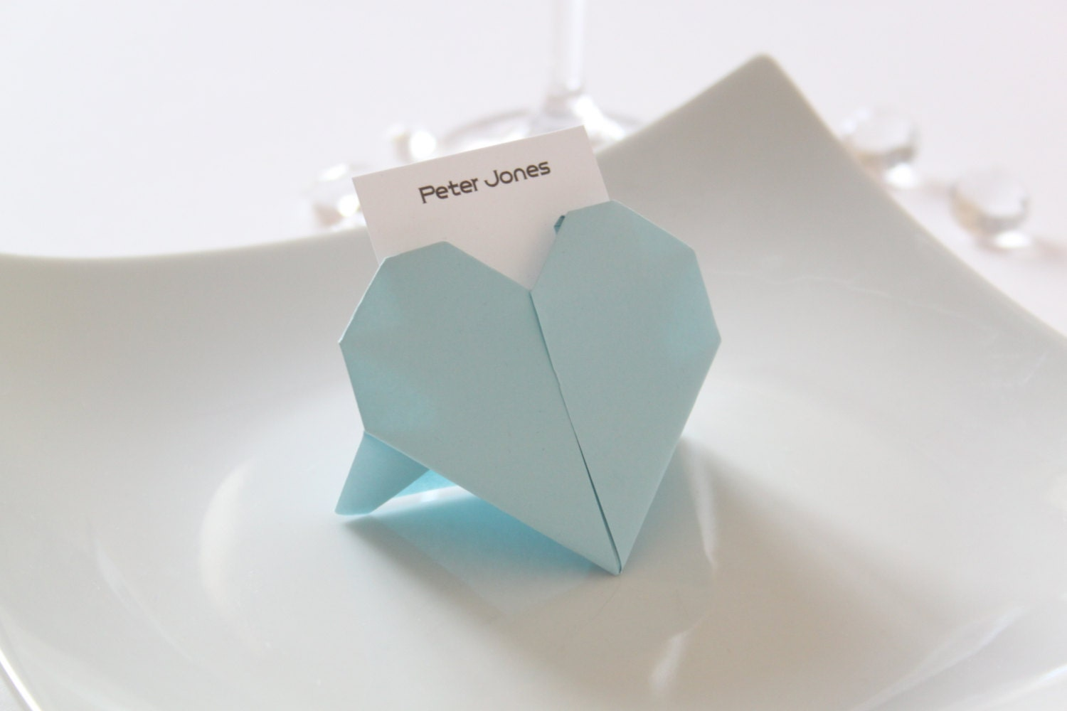wedding origami heart place cards x 50 by lovingpaperdesigns