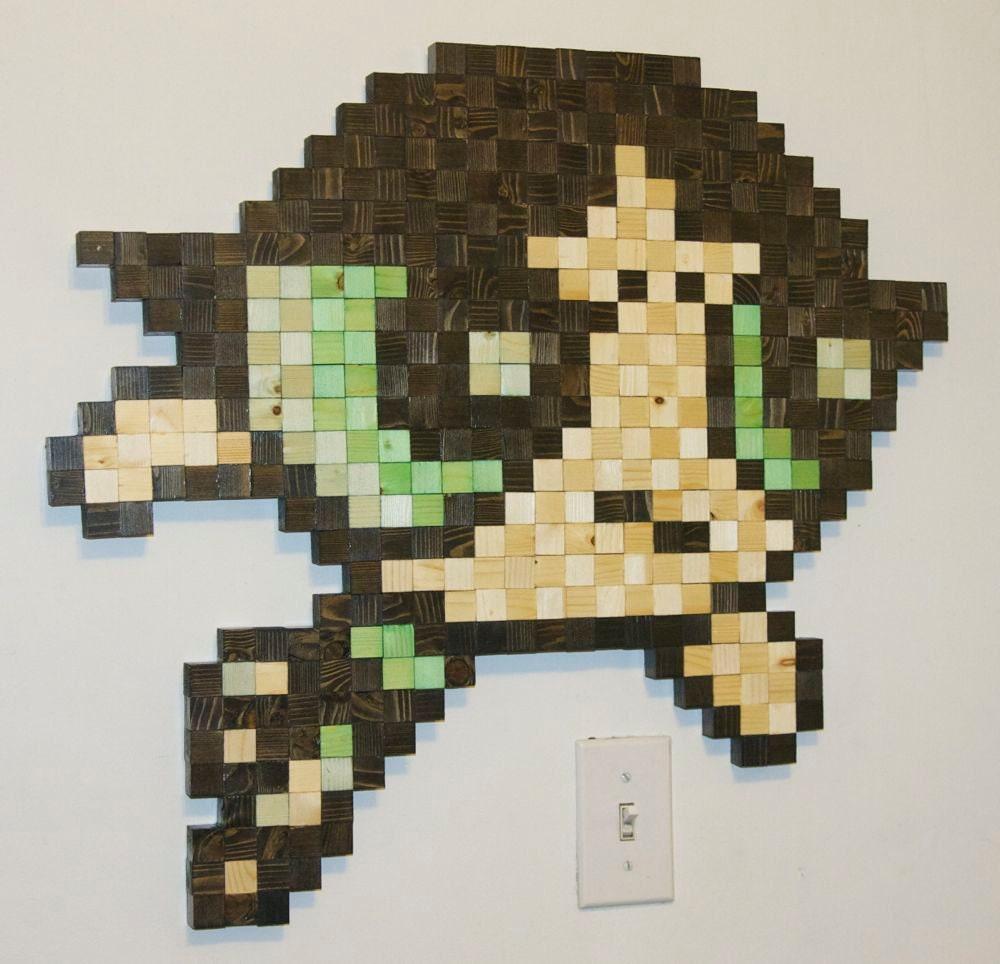 Items similar to Powerpuff Girls Buttercup Wooden Pixel