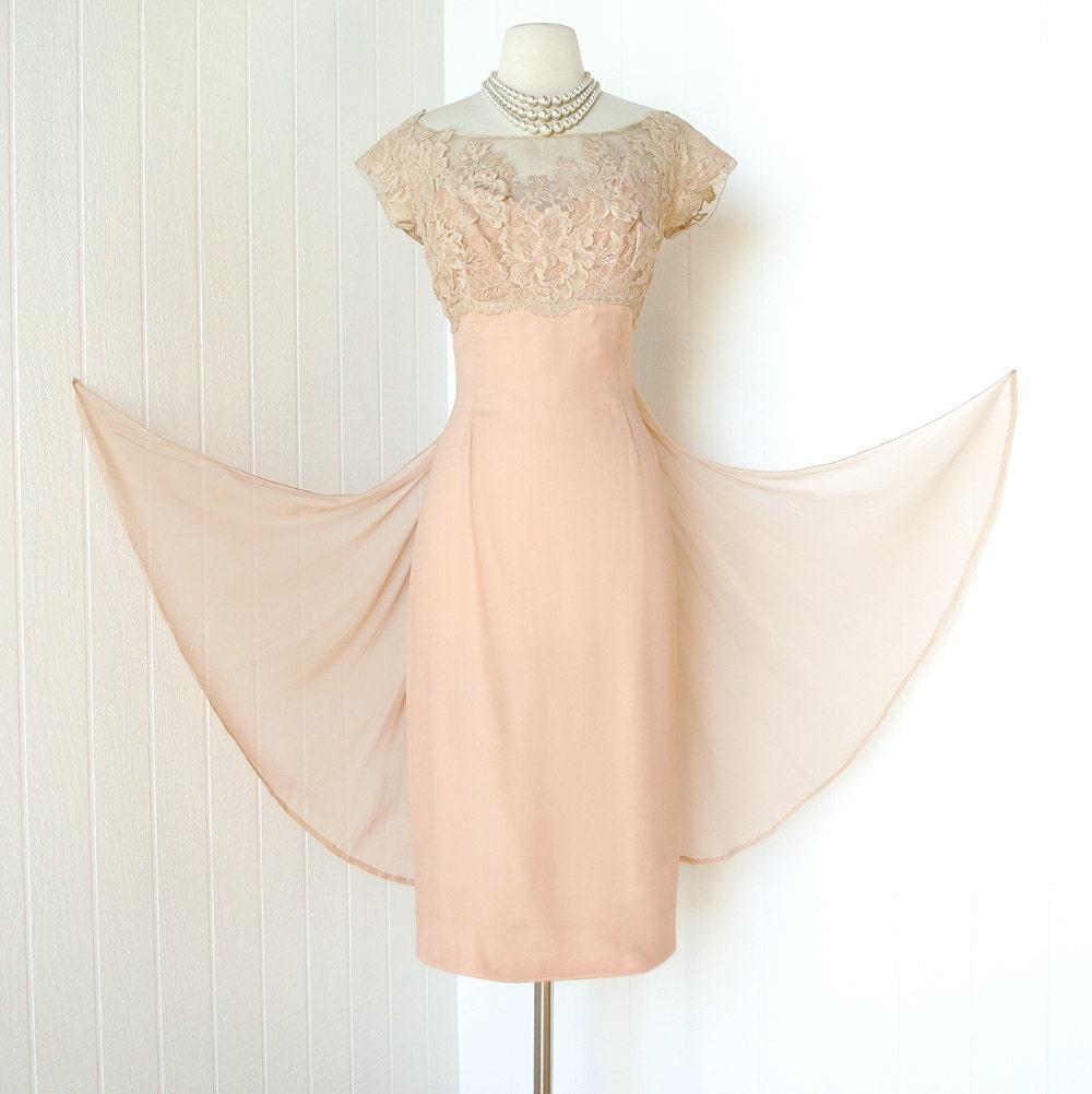 Vintage 1960's Dress ...old Hollywood Glam Designer By Traven7