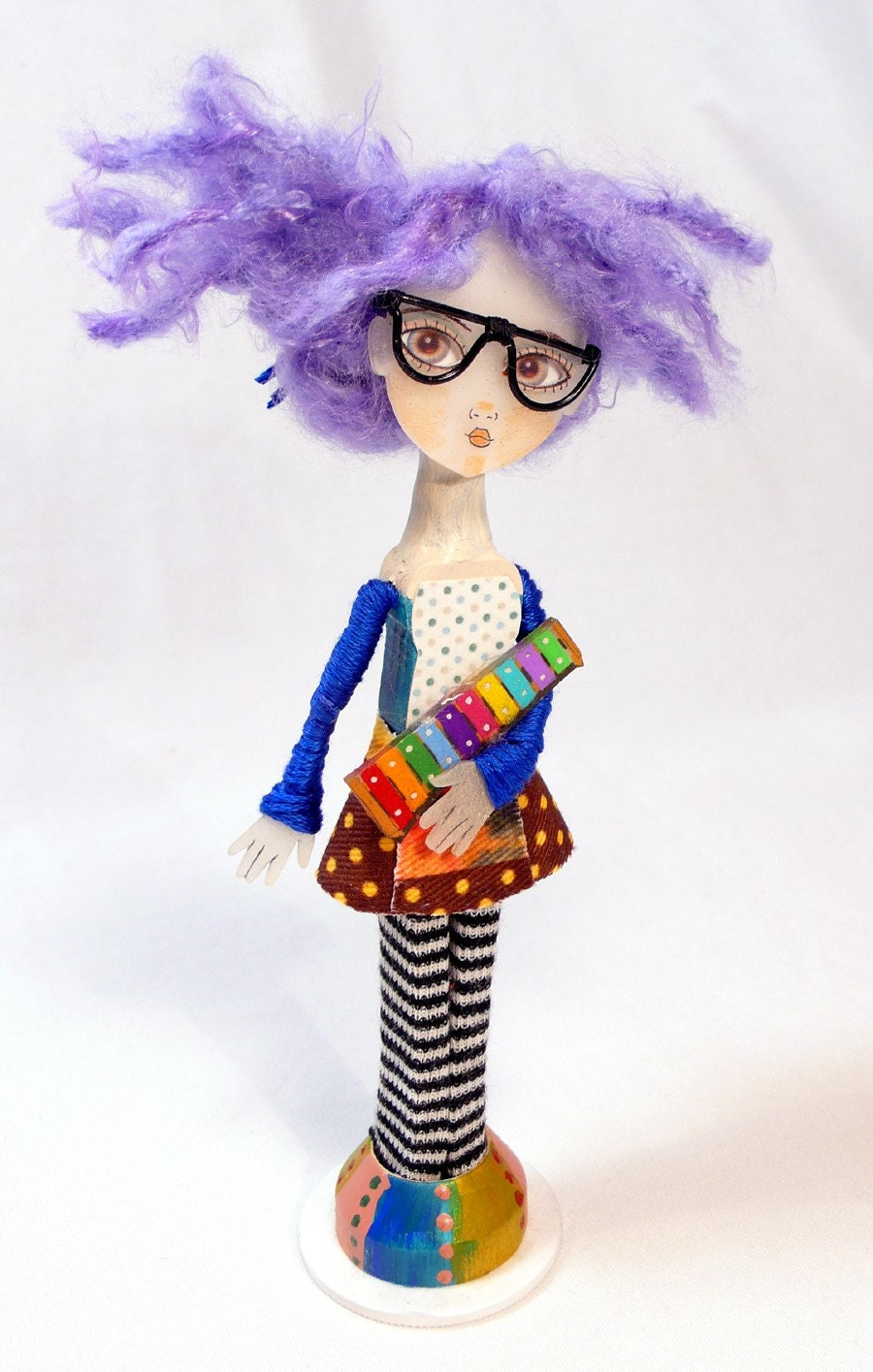 It's Good to be Weird Clothes Pin Doll