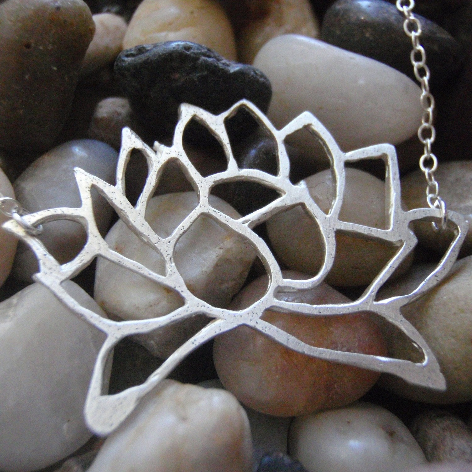 Lotus In Full Bloom Neclace