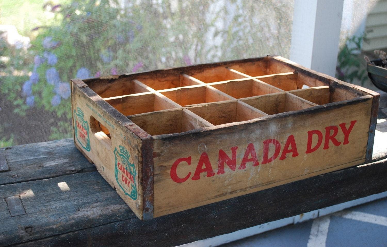 Soda Crate Canada Dry Shelf or Display Case Vintage Wood