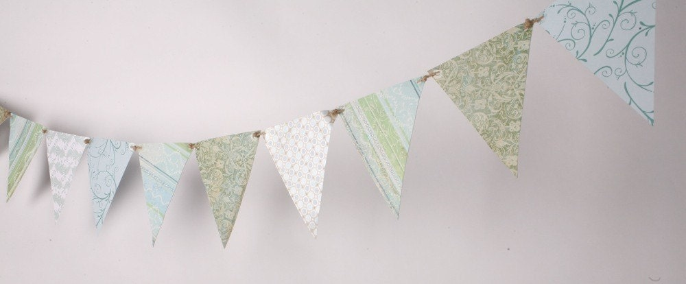 Paper Bunting Garland Number 8