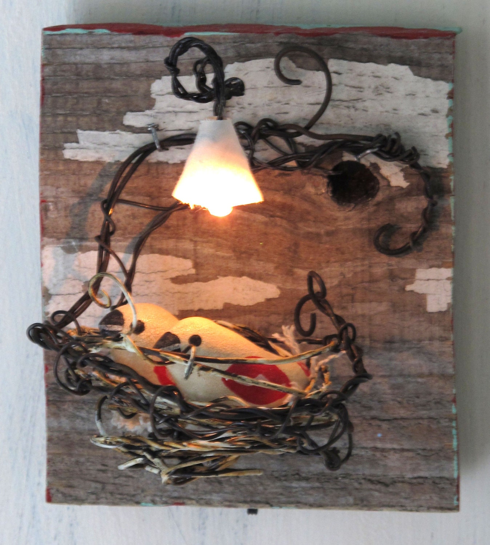 Lighted Lovebird Nest