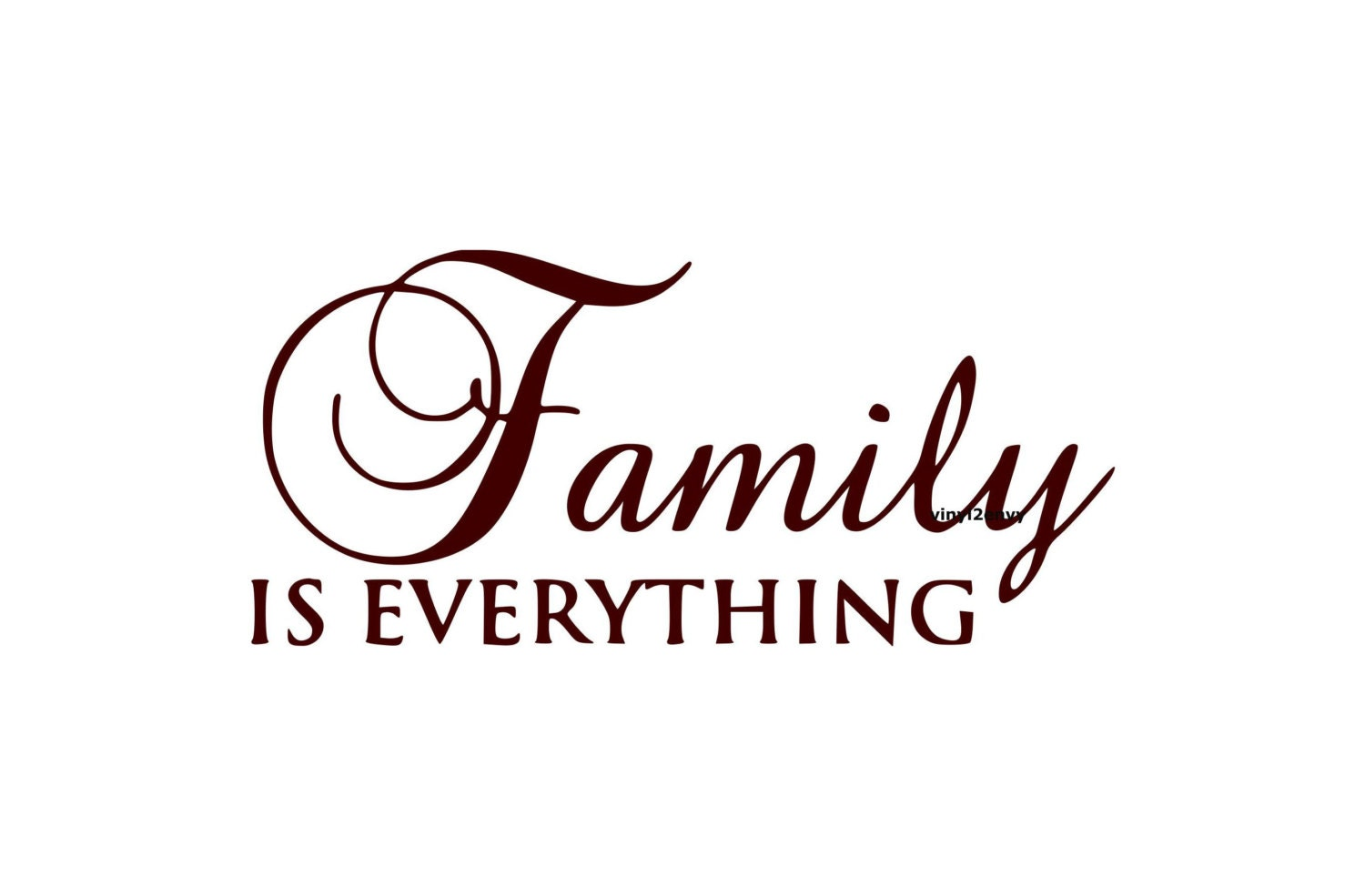 items similar to family is everything wall decal vinyl wall decals wall decor signage. Black Bedroom Furniture Sets. Home Design Ideas