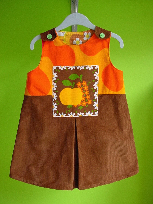 kinchi Fall fruit dress, size 3