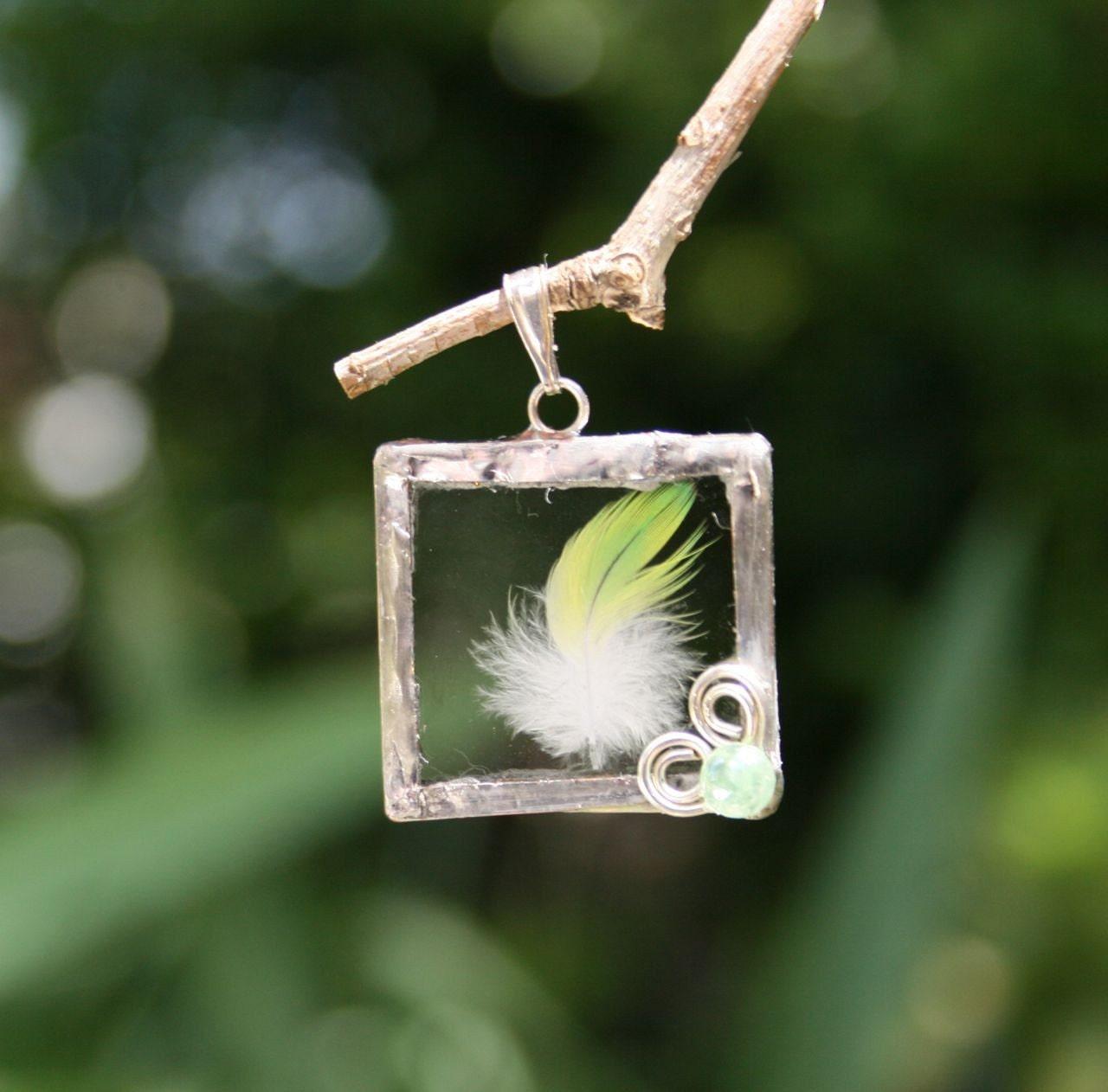 Lemondown Feather Pendant