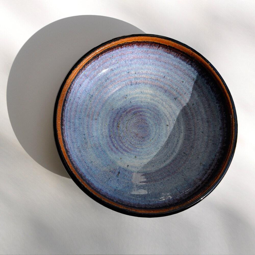 Ceramic Pottery Wheel Thrown Small Stoneware Purple By