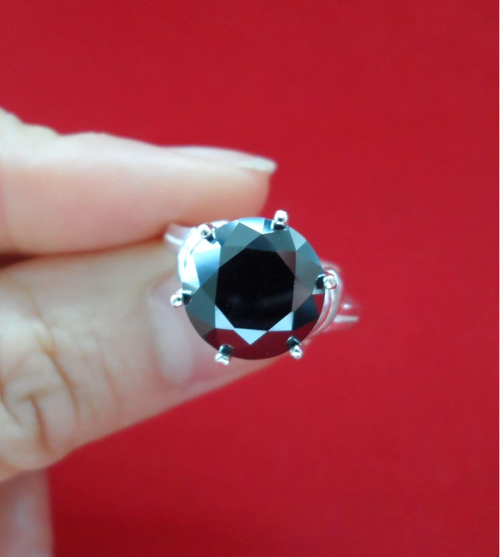 SALE 4 7 carat Natural Black Diamond Grande by DiamondQueenUSA