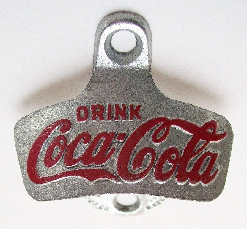 starr x coca cola old school bottle opener by recyclebuyvintage. Black Bedroom Furniture Sets. Home Design Ideas