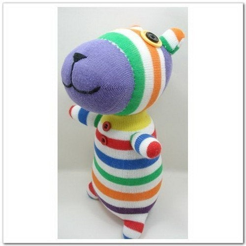 Handmade Sock Tiger Stuffed Animal Doll Baby Toys