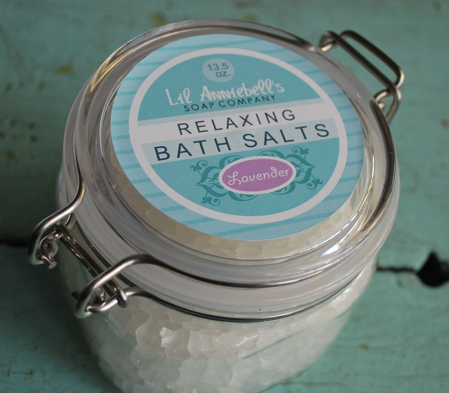 Relaxing Bath Salts with Lavender Essential Oil