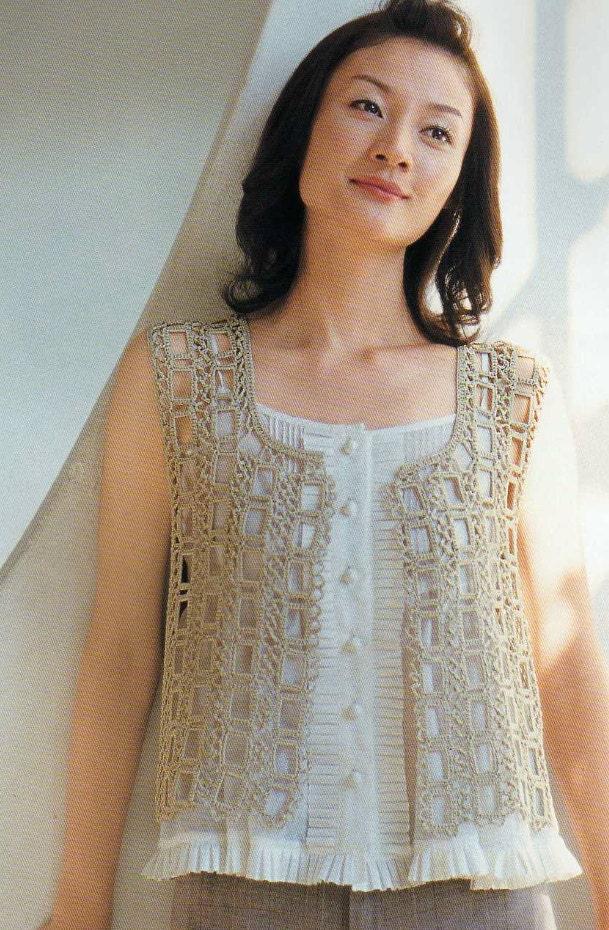 Метки: вязание крючком ажурное платье ажурный жилет мастер-класс - Комментарии от японских