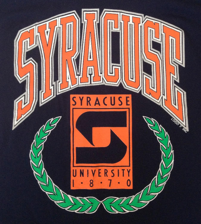university of syracuse vintage tshirt medium by
