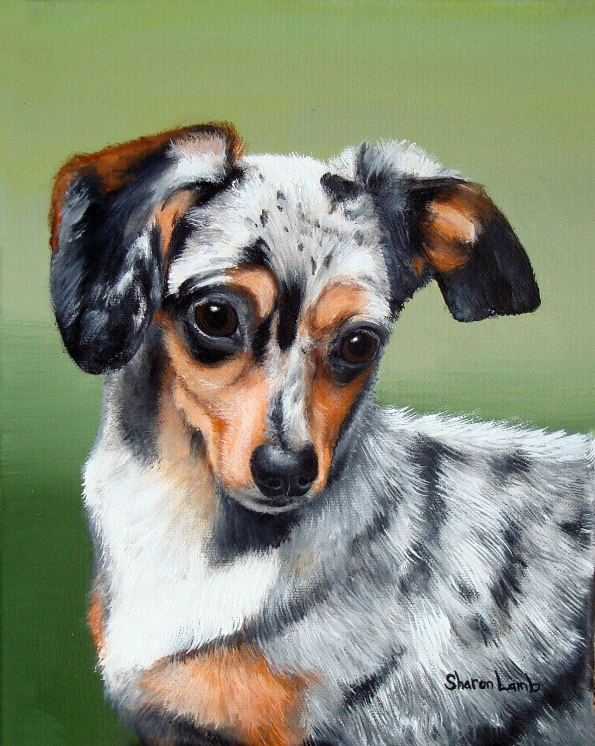 Hand Painted 8x10 Custom Commissioned Pet Portrait Painting any Animal Dog Cat or Horse