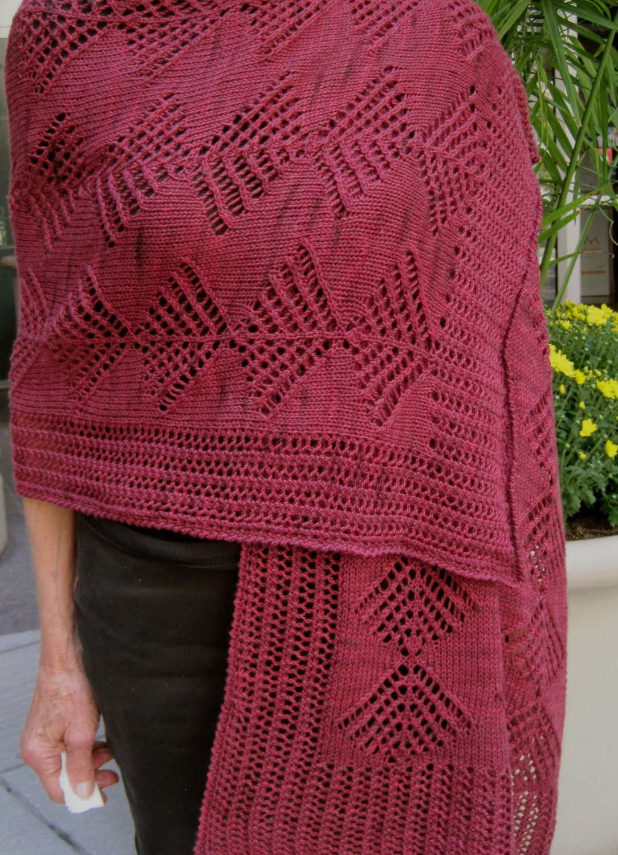 Umbrella Knitting Pattern : Items similar to knit wrap pattern falling umbrellas lace