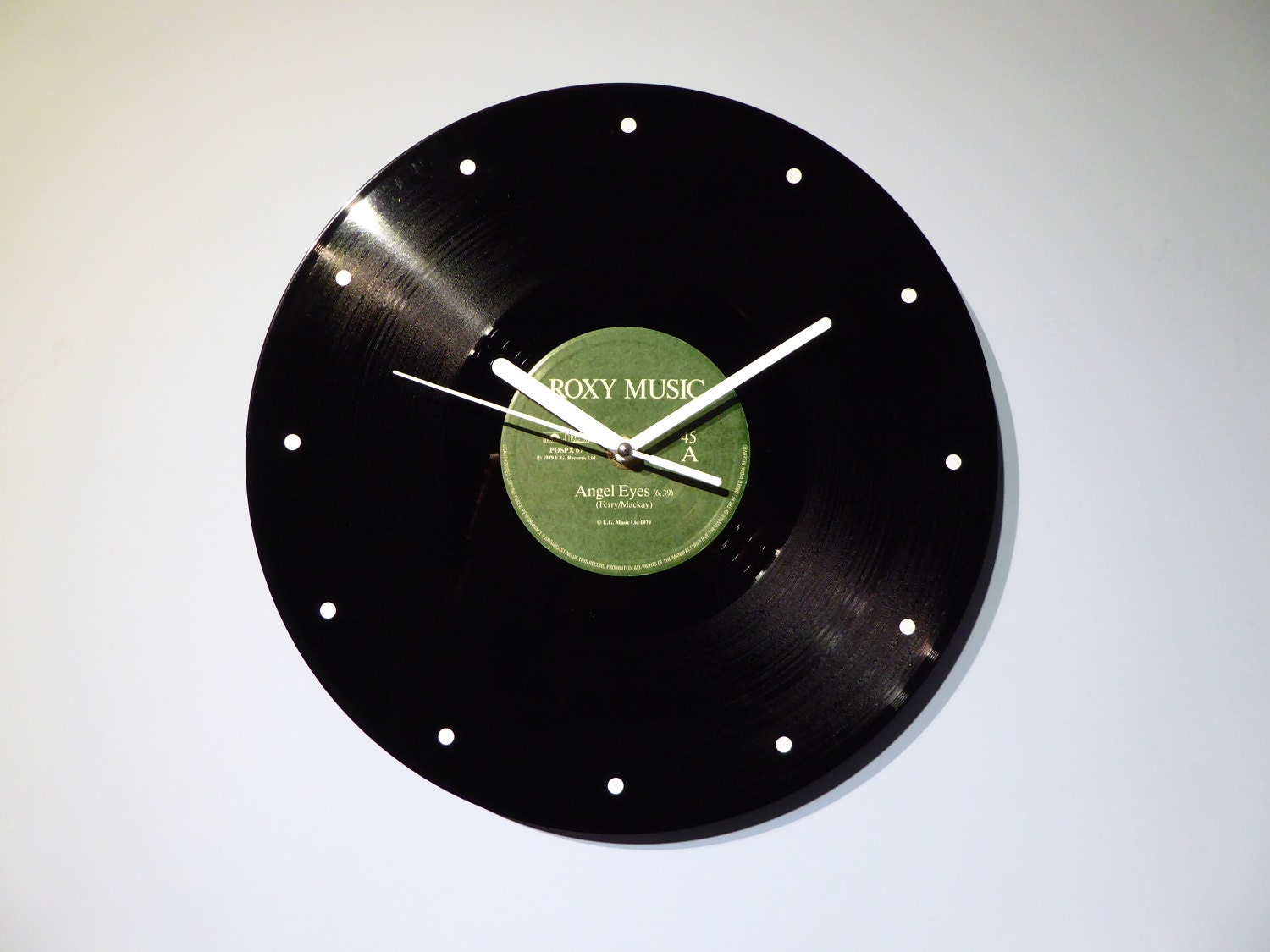 Roxy Music Vinyl Record Wall Clock