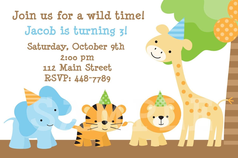 Items similar to Jungle Party Birthday Invitation on Etsy