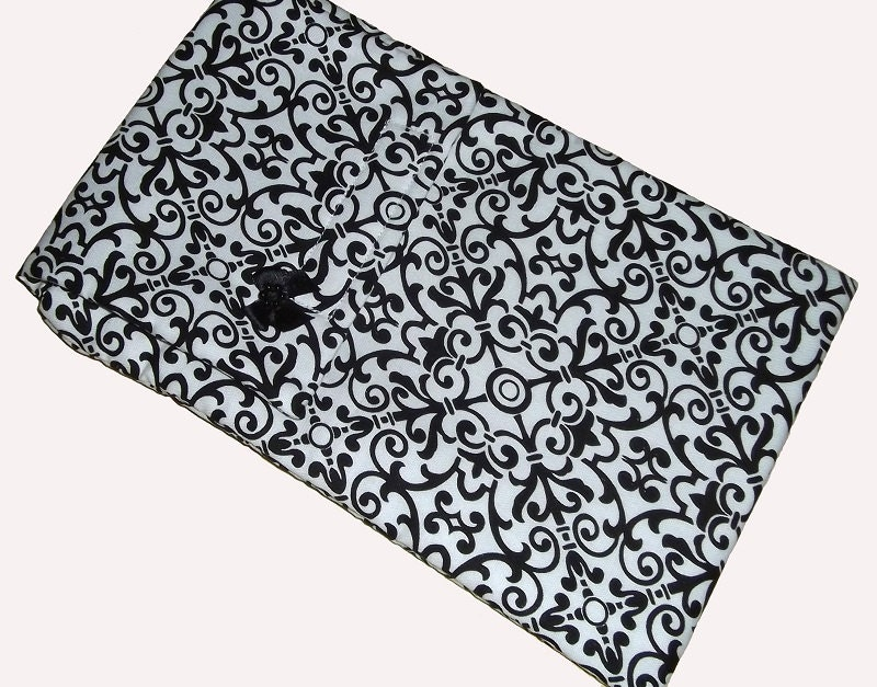 Black White Geometric eReader Gadget Laptop Case Cover Bag fits Kindle Christmas Gift