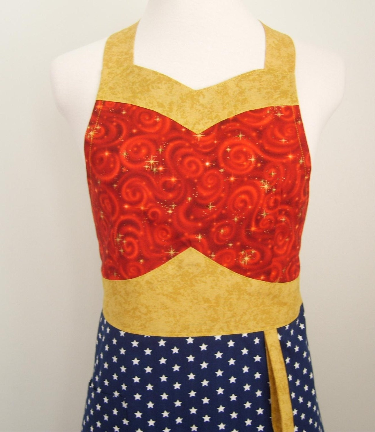 The WONDER MOM 2 Woman's Super Hero Apron -  Ready to Ship