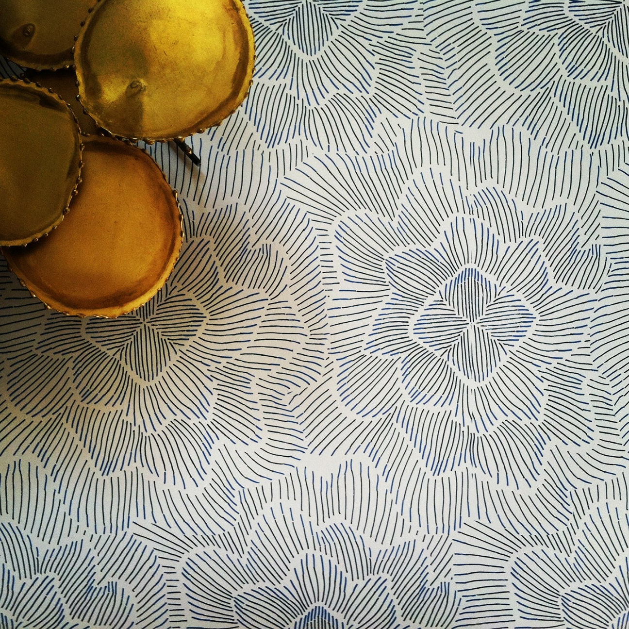 removable wallpaper pinstripe floral by