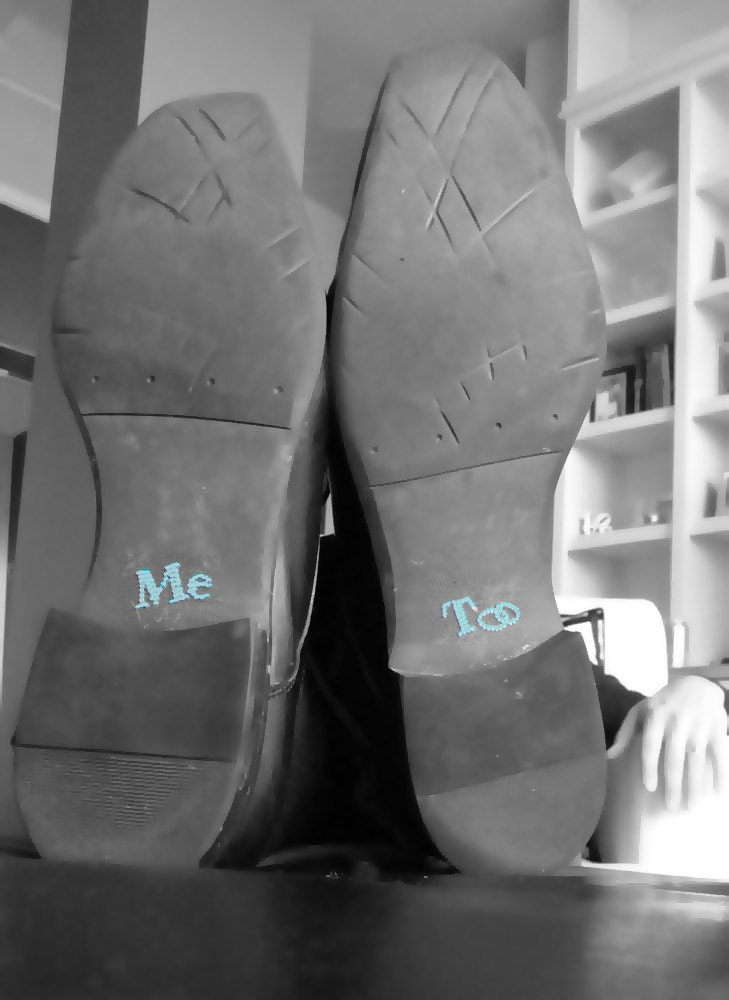 Grooms Me Too Crystal Shoe Stickers in Blue
