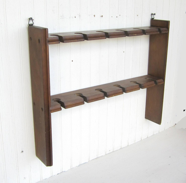 vintage wine glass rack wall hanging shelf by thejunkman. Black Bedroom Furniture Sets. Home Design Ideas