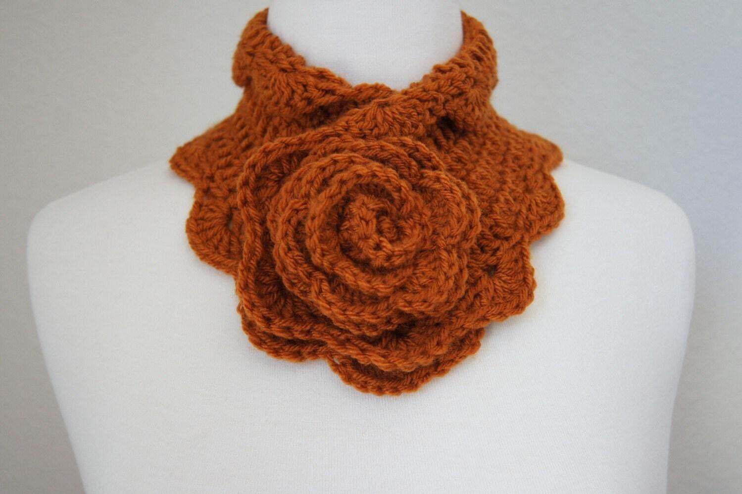 Rosette Neckwarmer - Pumpkin Spice