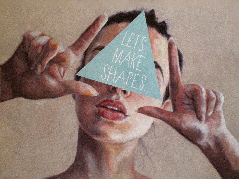 Framed print - 'Let's Make Shapes' by Little Lost Soul - littlelostsoul