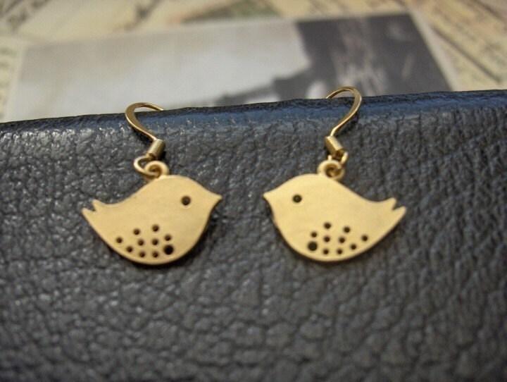 14kt Gold Wire Birdies