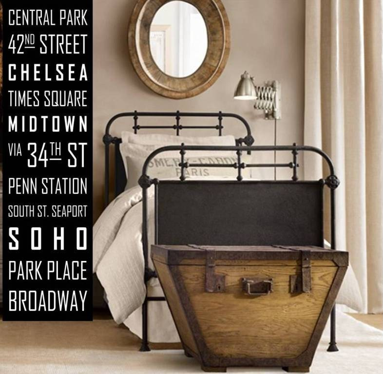 NYC New York City Subway Sign, Rollsign, Bus Blind, Tram Scroll Vintage Style Wall Art Canvas Huge - wordology