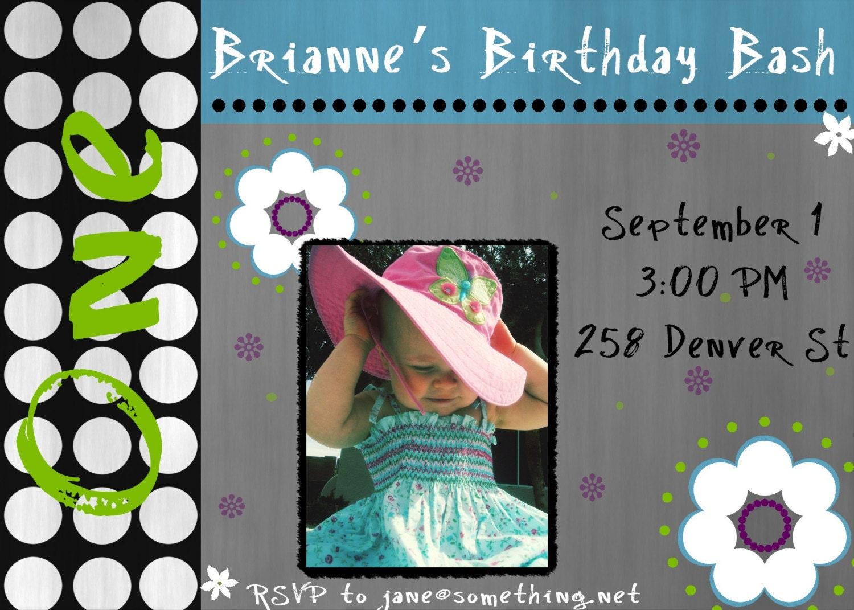 Personalized Invitation or Announcement - Brianne