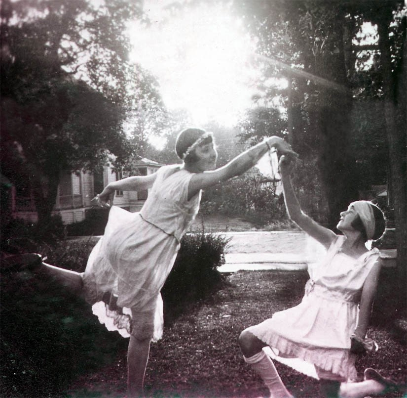Isadora Dancers 2 Teen Girls Ballet at Sunset Fine Art Vintage Photograph