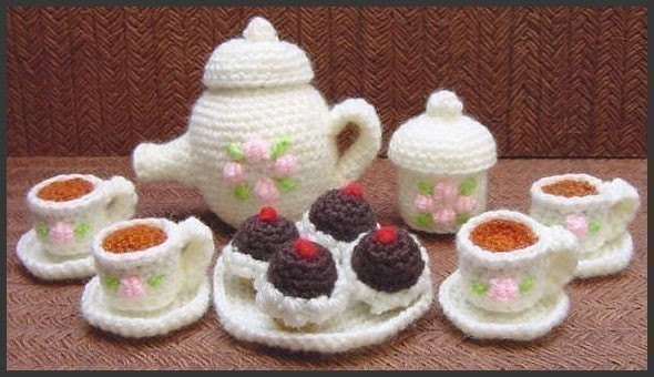 Mini Tea Set - Amigurumi Pattern