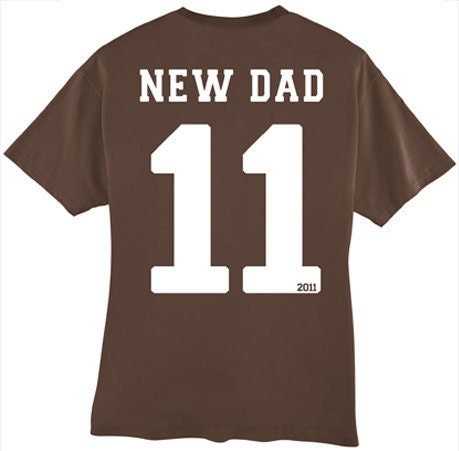New Dad personalized sports style shirt - Father's Day Gift Idea - BabytalkDesigns