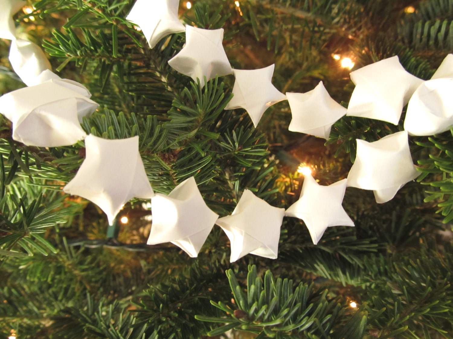 Origami Star Garland White Party Decor Home Decor By Catchsomeraes