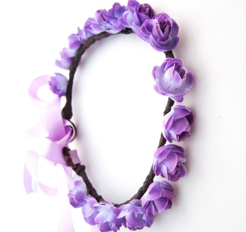 Flower Crown Purple: Floral Crown Purple Rose Hair Wreath Hair By Simpleeluxx