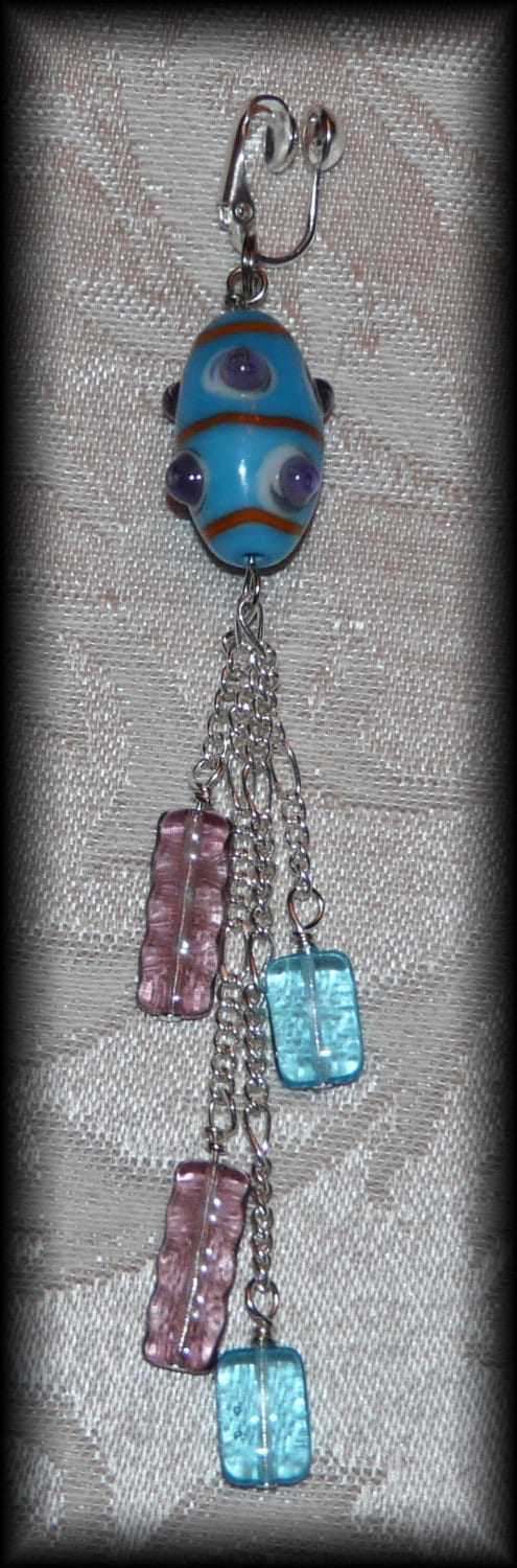 Non Piercing Female Clitoral Hood Clip Lampwork Glass. From beadsexy