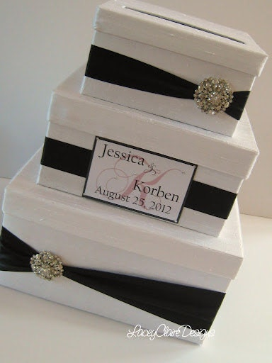 Wedding Gift Box Card Box Money Holder by LaceyClaireDesigns