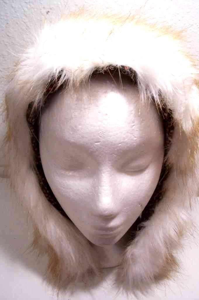 faux fur hat. 2010 fur hat with flaps.
