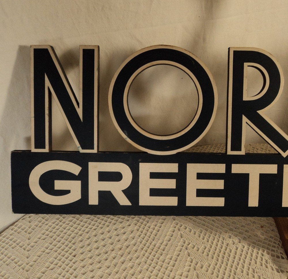 Vintage 1950s Norcross Cut Out Sign