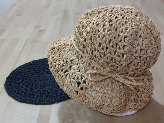 The Options Lace Eco friendly crochet summer hat - raffia yarn - fiber plant
