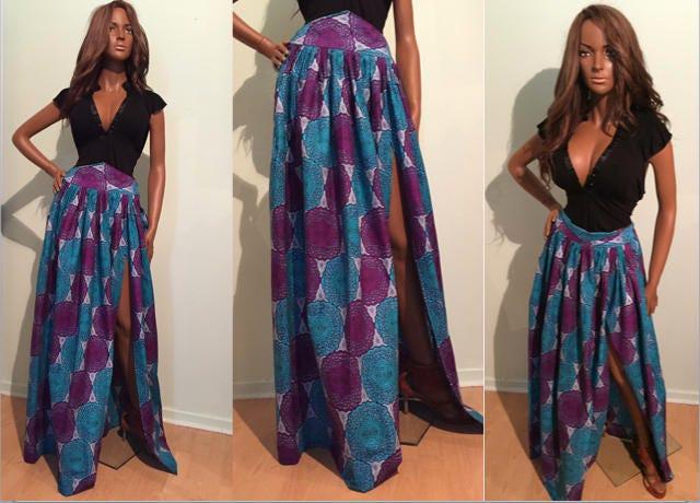 African Dress Ideas Summer Ankara maxi skirt for African Ladies size SMLXL2XL3XL4XLAfrican clothes wax cotton skirt
