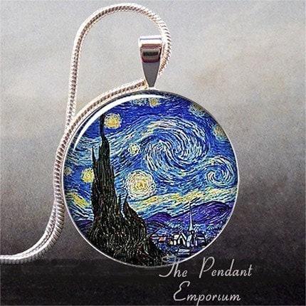 Van Gogh's Starry Night art pendant (46)