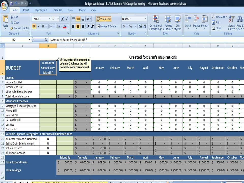 Family Budget  templatesofficecom