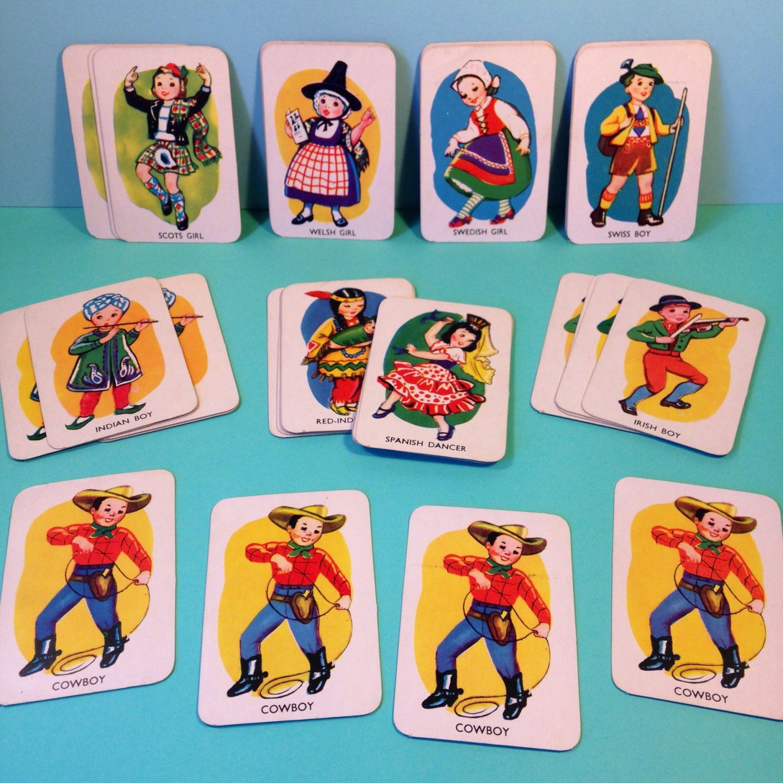 Card Game  1950s  Snap  Vintage  Vintage Card Games  Childrens Card Games  Tower Press