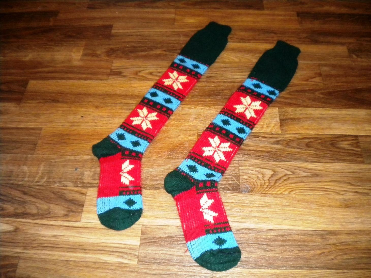 Small Fair Isle Knit Socks