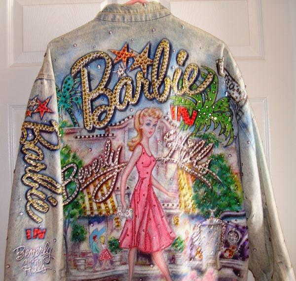 Barbie Rhinestone Jean Jacket By Tony Alamo By