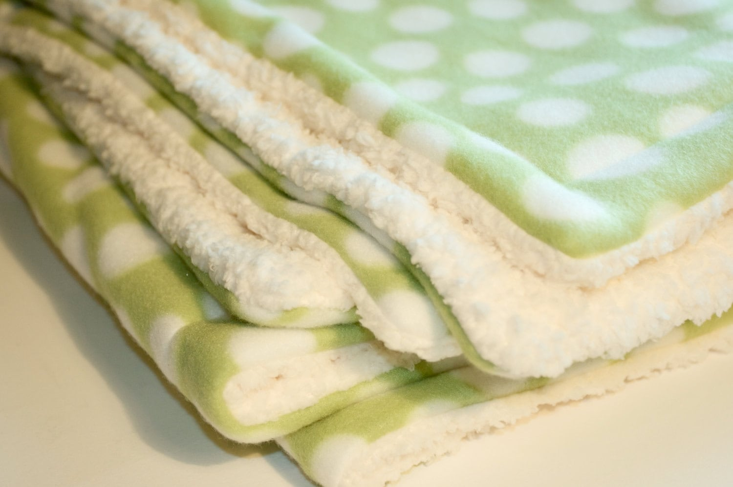 Baby Blanket Gender Neutral Green and White Polka Dotted Gender Neutral Baby Blanket EtsyKids Team