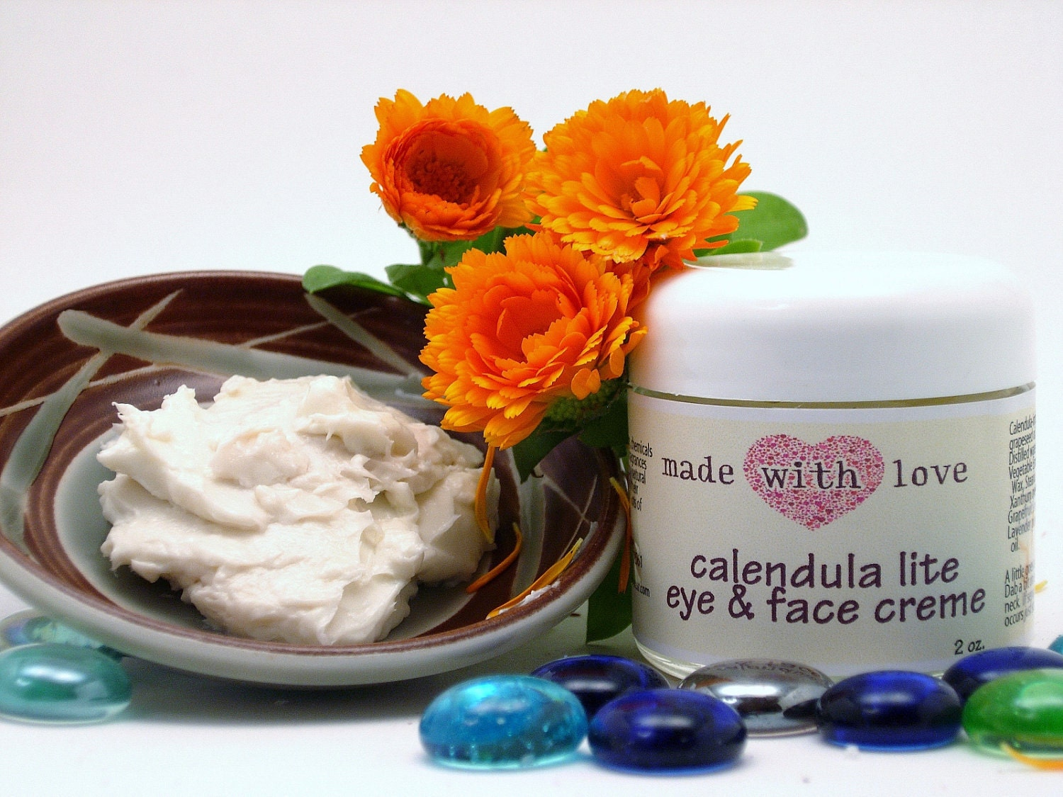 Calendula Lite Eye & Face Creme-Vegan - naturalskincream